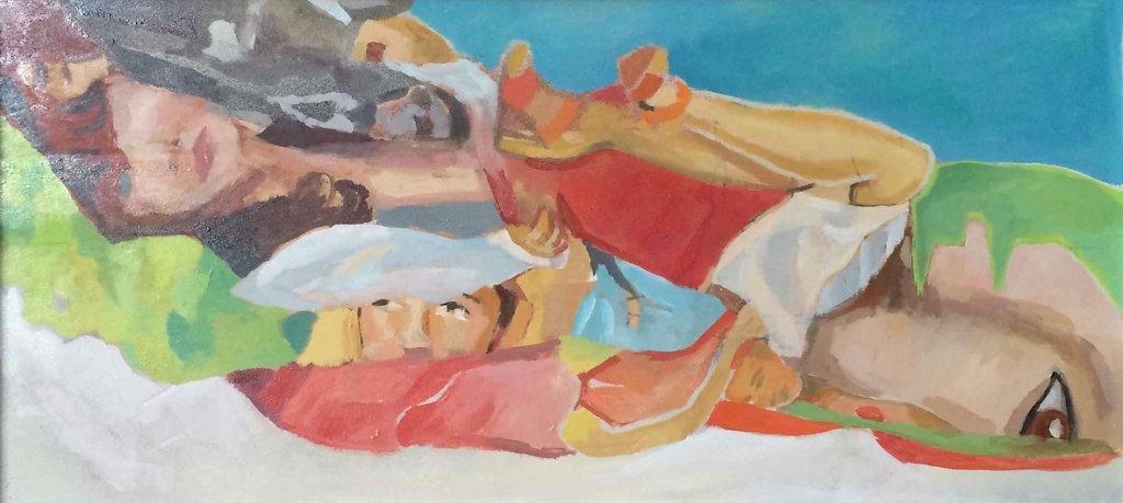 Ferragamo, oil on plywood, 26 x 55 cm, 2014