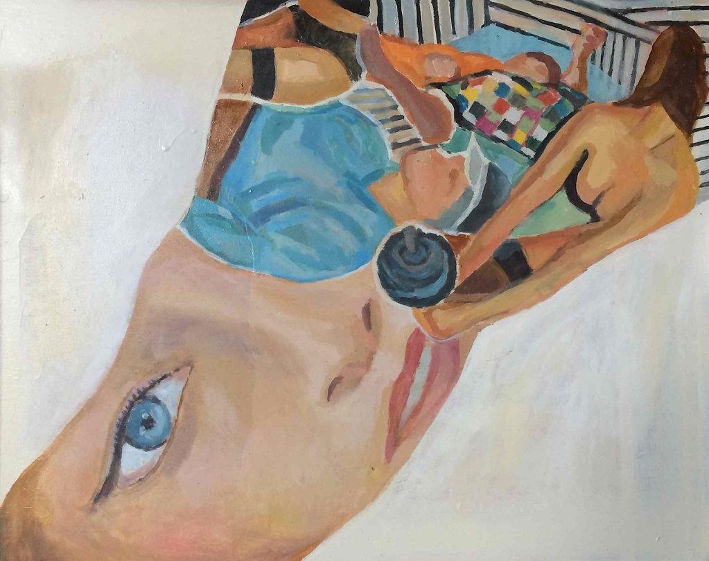 Dior Addict, oil on plywood, 40 x  cm, 2014