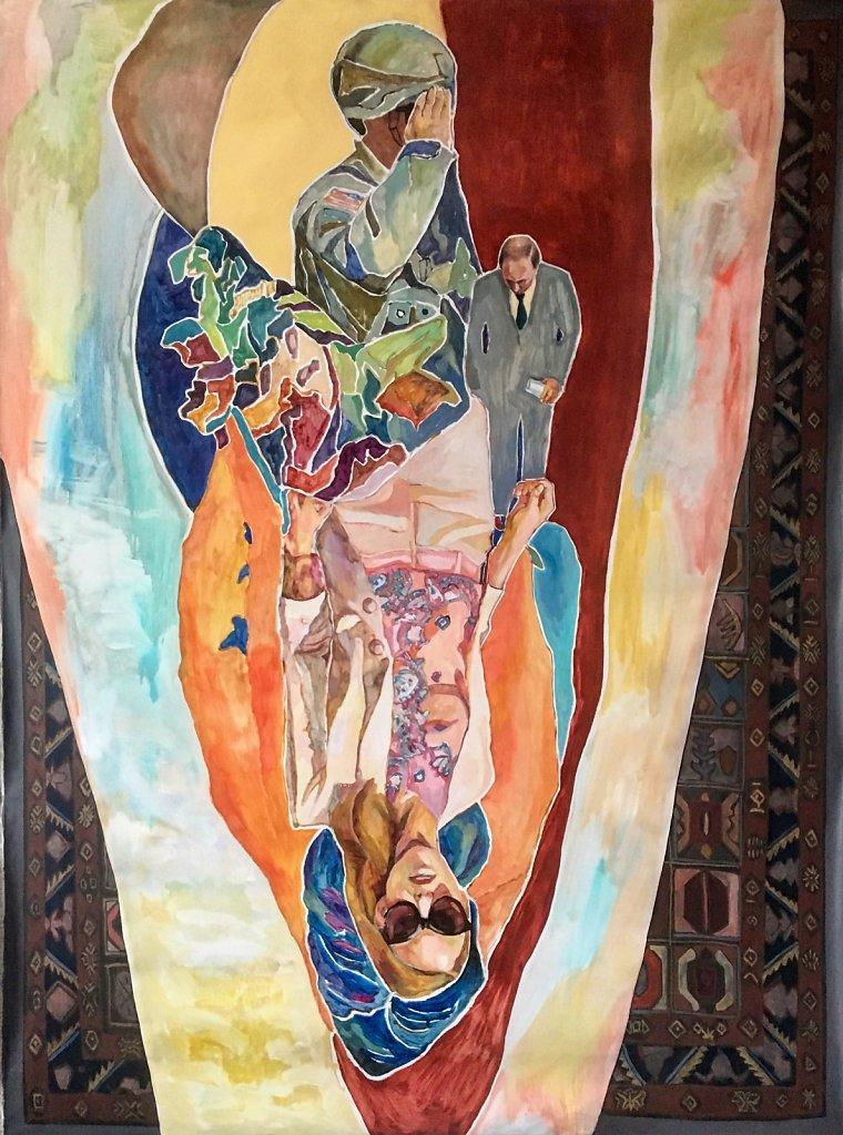 Salute, oil on linen, 196 x 144 cm, 2017